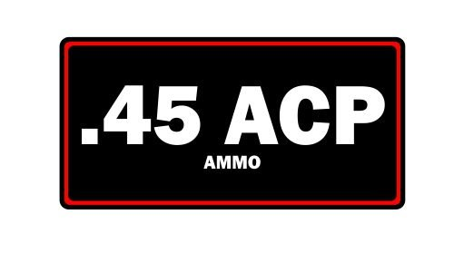 JS Artworks . 45 ACP Munition Label Can Vinyl-Aufkleber
