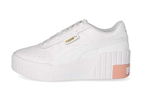 PUMA Cali Wedge WN S, Zapatillas Mujer, Blanco Apricot Blush, 37 EU