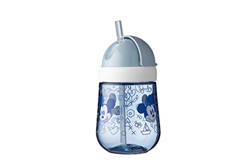 Mepal Mio Vaso con pajita para aprender a beber, a partir de 9 meses, a prueba de fugas, apto para lavavajillas, Mickey Mouse