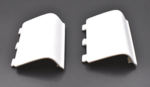 2 Pack of Replacement Battery Cover Door Compatible with Xbox One/Xbox One S Controller, Battery Back Shell Repair Part Compatible with Xbox Wireless Controller