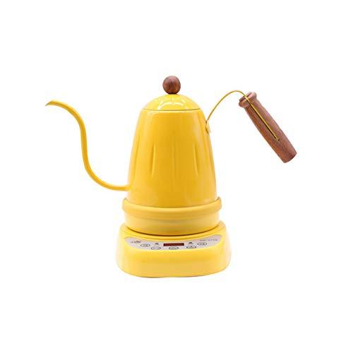CBVG Bollitore Elettrico/a Temperatura variabile Digitale/Elettrico Bollitore a Collo D\'Oca per versare caffè e tè, Giallo