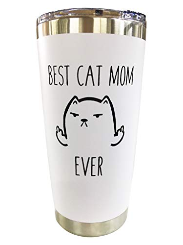 Cat Mom Travel Mugs/Tumbler - 20oz Mug for Coffee/Tea-Funny Gifts for Cat Themed Things, Lovers, Crazy Cat Lady Gift by Tough Tumblers