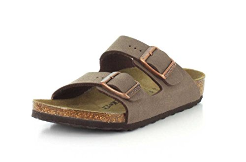 Birkenstock Arizona Cork Footbed Sandal (Toddler/Little Kid/Big Kid), Mocha, 34 EU(3-3.5 N US Big Kid)