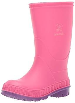 Kamik Girl s Stomp Rain Boot Pink 4 M US Big Kid