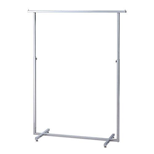 Chrome plaqué carré en acier Bar vêtement Rack/blancs