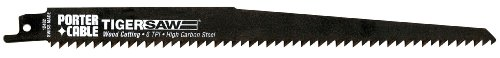 PORTER-CABLE 12402-5 9-Inch 6 TPI Reciprocating Saw Blade (5-Pack)