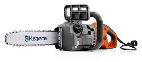"Husqvarna 967256101 16"" Corded Electric Chainsaw, 414EL, Orange"