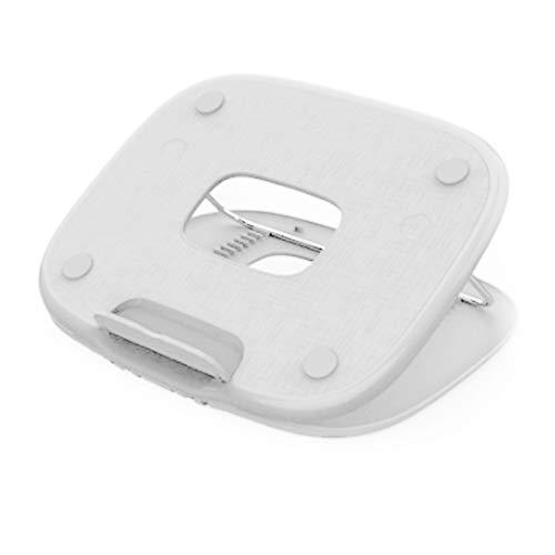 Wsaman Notebook Riser Monte Espacio-Save Compatible, Actualizar Portátil Ajustable Cooing Soporte del Sostenedor con Laptops De 11' A 17' Titular De Escritorio Portátil Portátil,Blanco