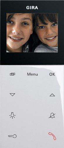Gira 127903 Wohnungsstation Video AP System 55 reinweiß glänzend