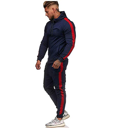 UMore Herren Jogginganzug Sportanzug Männer Trainingsanzug Fitness Sporthose und Trainingsjacke Herren Jogginganzug Sportanzug