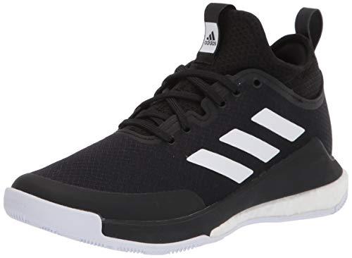 adidas Women's Crazyflight Mid Cross Trainer, Black/White/Black, 6.5