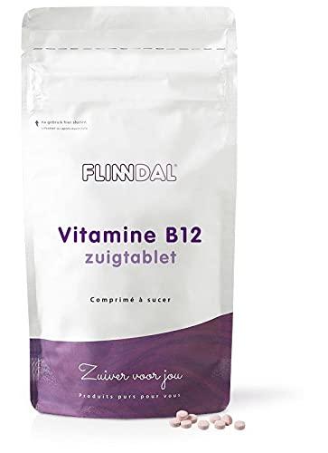 Flinndal - Vitamine B12 Zuigtablet - 90 Zuigtabletten - Voor het geheugen, zenuwstelsel en meer energie
