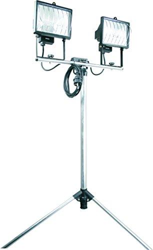 Smartwares TL800A Luz de trabajo, Con trípode, Luces dobles, 400W (dos unidades), Regulable entre 1,05 y 1,95 metros, Apta para uso exterior