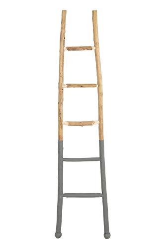 Creative Co-op Decorative Wood Ladder Misc Furniture, Dark Grey
