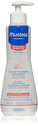 Mustela No-rinse Soothing Cleansing Water for Very Sensitive Skin, 10.14 oz.