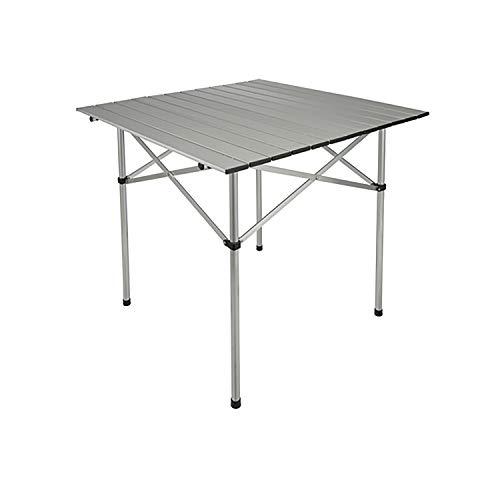 Mojawo Aluminium Campingtisch Klapptisch Rolltisch Gartentisch Camping inkl Tragetasche Reisetisch 70x70x70cm