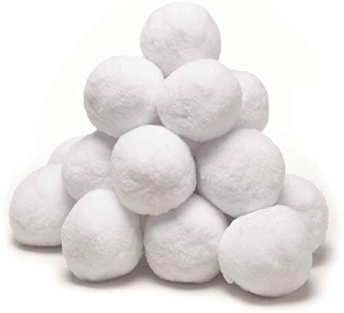 Invero 40 Pack of Soft Fake White Elf Christmas Snowballs - Ideal Display for Xmas Trees, Home Decoration, Children's Indoor Snow Fights, Festive Countdown Fun and more