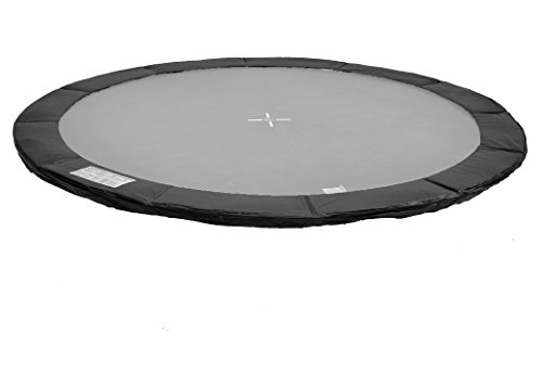Kid(s) Ports - Accessori per tappeti Elastici - reti di Sicurezza - tappeti per Saltare - coperture per Bordi - teloni meteorologici - variazioni (Copertura Bordo Nero, per trampolini 370cm)