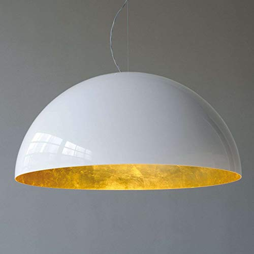 lampadario cupola Lampadario a Sospensione Moderno Cupola 1 luce di diametro 60 cm in materiale Metallo colore foglia oro MADE IN ITALY - L+