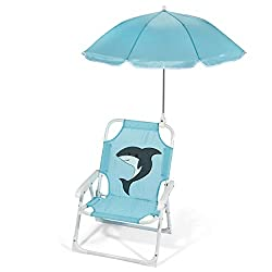 kids beach chairs with umbrellas