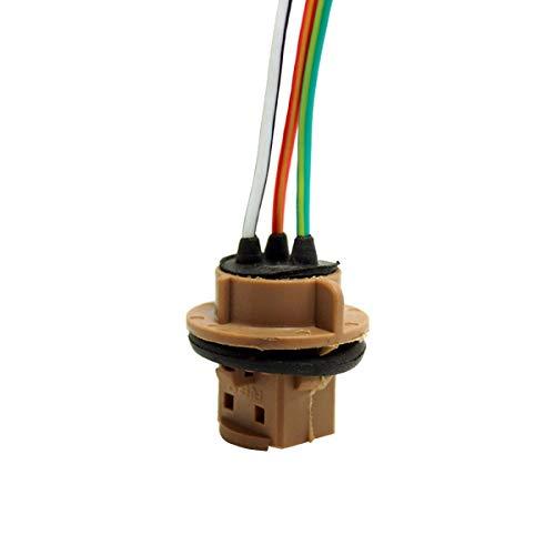 T20 7440 7443 LED W21 / 5W Freno Señal de giro Bombilla Soporte para coche Conector Enchufe Luz de látigo Hilo Adaptador Base Lámpara para coche