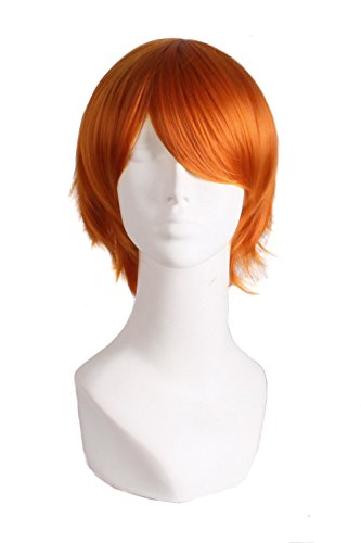 "MapofBeauty 12""/30cm Role Play Cosplay Wig Costume (Golden Orange)"