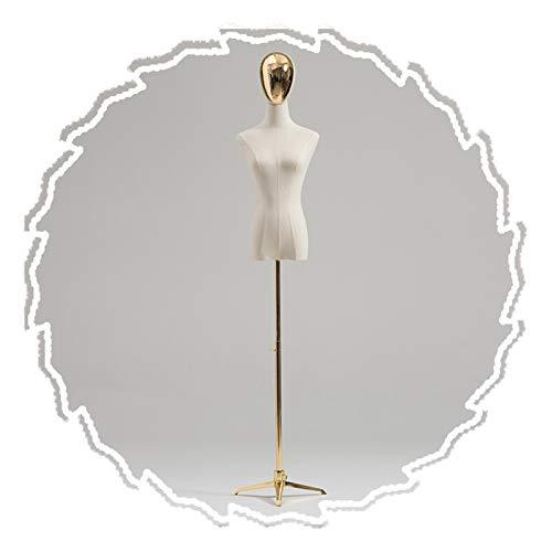 RZEMIN ZEMIN Maniquí de Costura, Busto Modista Femenino, Muñeca con Forma Vestido Sastre Soporte Trípode Ajustable, Diseño Revestimiento Cabeza, 2 Tamaños (Color : A, Size : Small)