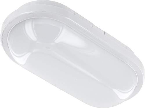 Plafonnier LED 15 W IP65 IK08 - Ovale - 1200 lm - 220 x 120 x 65 mm - Blanc chaud (3000 K)