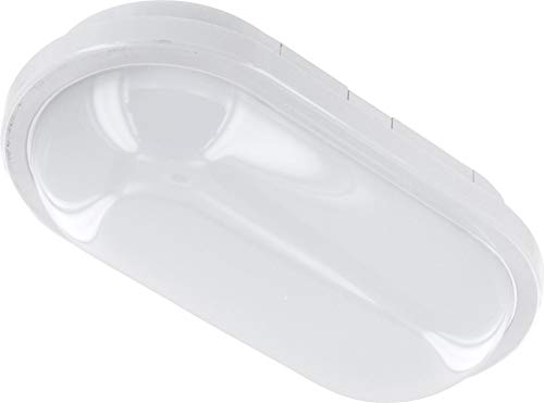 Plafonnier LED 15 W IP65 IK08 - Ovale - 1200 lm - 220 x 120 x 65 mm - Blanc chaud (3000 K)