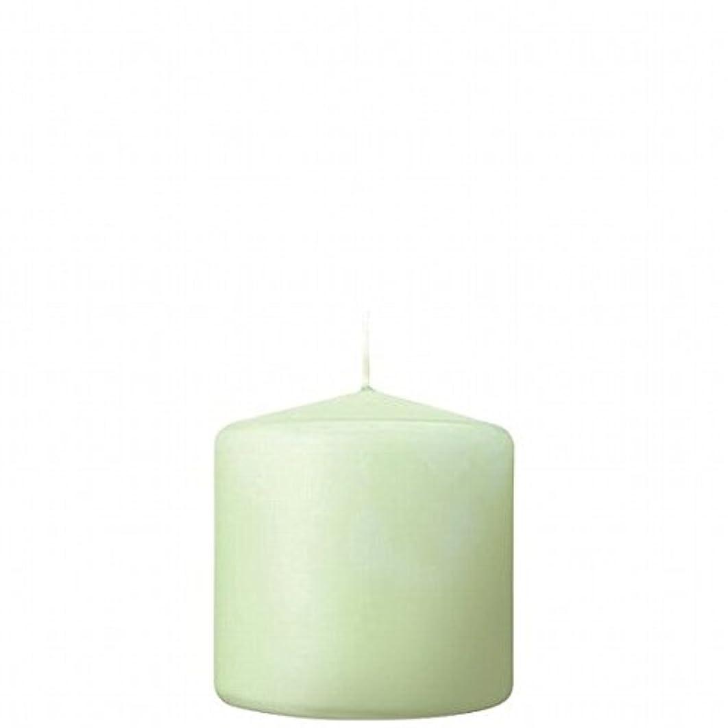 トラフィック卒業記念アルバムひどいkameyama candle(カメヤマキャンドル) 3×3ベルトップピラーキャンドル 「 ホワイトグリーン 」(A9730000WG)