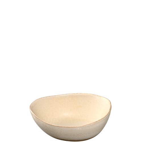 Leonardo Noli Schale aus Steingut, 1 Stück, spülmaschinenfeste Schüssel,mikrowellengeeignete Keramik-Schale, matt beige, oval, 400 ml, 054644