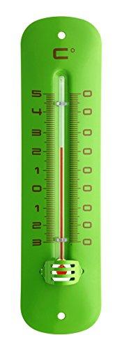 TFA Dostmann Analoges Innen-Außen-Thermometer aus Metall, grün