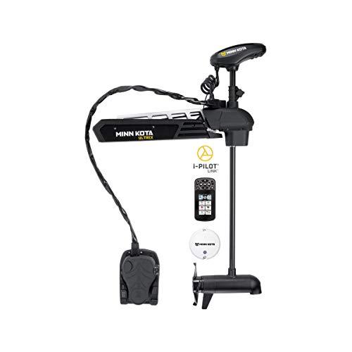 Minn Kota 1368810 Ultrex Freshwater Cable & Electric-Steer Bow-Mount Motor with Universal Sonar 2, Digital Maximizer & i-Pilot Link GPS, 80 lbs Thrust, 45