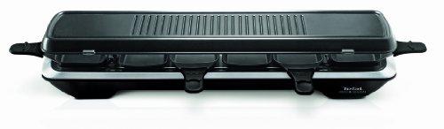 Tefal RE 5228 Raclette Simply Line 6 Inox & Design (1050 watt, 6 pannetjes, klassiek en tapan Yaki-grilloppervlak) zwart