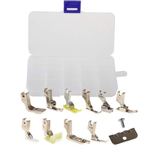 Baoblaze 13 Pedazos Pies Prensatelas con Cremallera Máquina de Coser Industrial