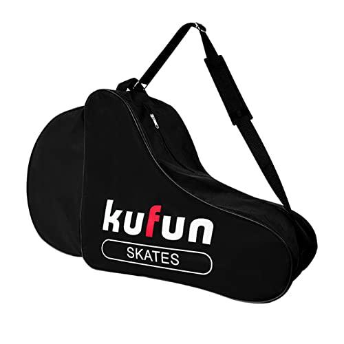Bolsa para patines de hielo con ruedas y ruedas transpirables, bolsa de almacenamiento para zapatos de patinaje con ruedas, bolsa de almacenamiento para zapatos de patinaje impresos, correa ajustable
