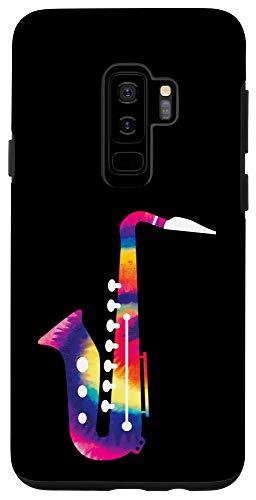 Galaxy S9+ Saxophone Gift for Saxophone Player Tie Dye Saxophone Case