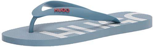 HUGO by Hugo Boss Sandalias Hombre Flip-Flop, Azul Pastal, 10-11