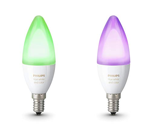 Philips Lighting Hue White And Color Ambiance Lampadine LED, Attacco E14, 6.5...