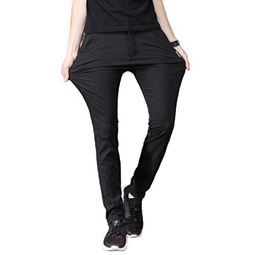 Pantalones de Moda de Color sólido para Hombre, Pantalones Rectos Transpirables duraderos Resistentes al Desgaste, antibalas, de Negocios L
