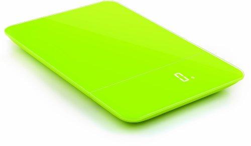 ZAK Designs 88-LEDRGW - Bilancia da Cucina Elettronica a LED Rettangolare, Colore: Verde