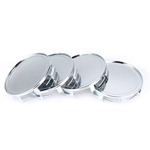 LUOERPI 4 Piezas 75mm / 69mm Tapa de la Cubierta del Eje del Centro de la Rueda del Coche Negro para Mercedes-Benz A/C/E/S/M/G Clase SLK/CLK/GLK/SL/CL/ML