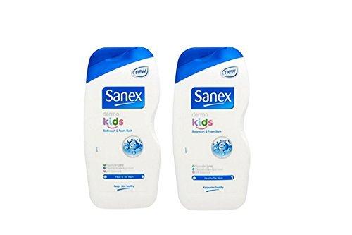 Sanex Dermo Kinder Schaumbad und Duschegel Set, 2x 500ml, Doppelpaket