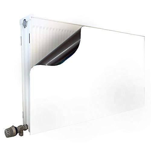 Smagnon Magnet Heizkörperverkleidung Heizkörperabdeckung Heizung Schutz Motiv Weiss-Matt, Heizkörper Höhe:60 cm, Heizkörper Länge:120 cm