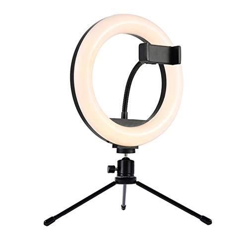 King Boutiques Lámpara de Vector de 8 Pulgadas Studio Anillo de Leds Fotografía Cámara de la Foto de Las Luces de luz con Mesa de Metal sostenedor del trípode for Smartphone Vlog Selfie