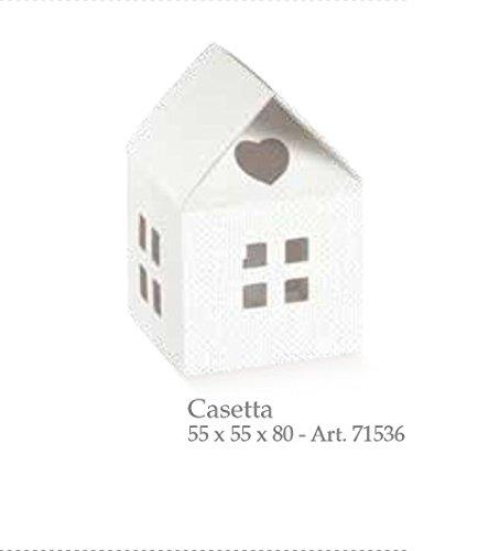 20 pièces série lin blanc maison nichoir carton portaconfetti Bonbonnière