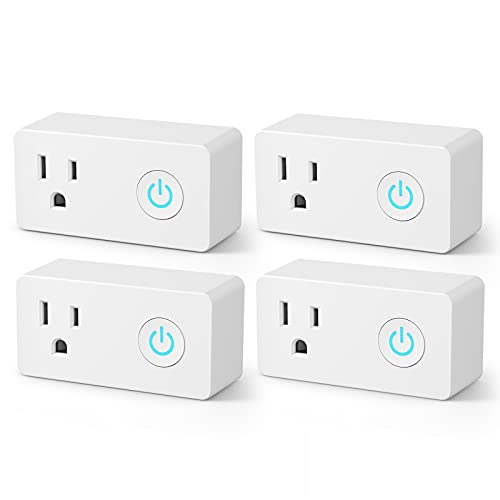 BN-LINK WiFi Heavy Duty Smart Plug Outlet, No Hub Required with Energy Monitoring and Timer Function, White, Compatible with Alexa and Google Assistant, 2.4 Ghz Network Only (4 Pack)