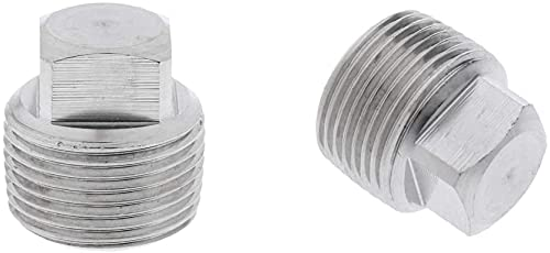 2 Pack Marine Boats Garboard Drain Plug Replacement Kit Stainless Steel - 1/2inch NPT