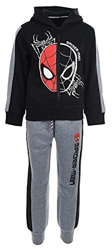Spiderman Niños Chándal (Negro,8 años)