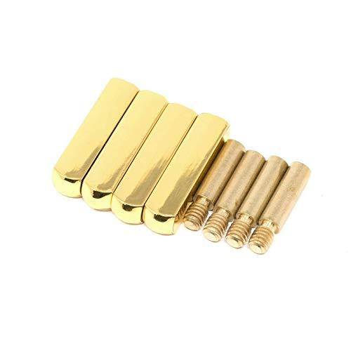 LitLaces - Schnürsenkelspitzen aus Vollmetall – Set mit vier Spitzen, passend für alle Sneakers, DIY, 25 mm (permanente Aglet)., Gold (gold), Small